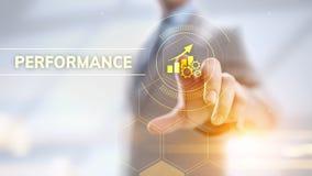 Дело и производственный процесс оптимизирования роста индикатора ключевой производительности KPI стоковое изображение