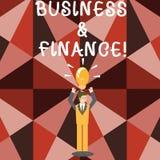 Дело и финансы текста сочинительства слова Концепция дела для ссылается на деньги и кредит используемые в бизнесмене дела иллюстрация вектора
