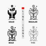 дело, компания, рост, завод, значок подъема в тонких, регулярных, смелых линии и стиле глифа r бесплатная иллюстрация