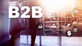 Дело к делу B2B - будущему технологии Бизнес модель Финансовая концепция технологии и связи стоковая фотография rf
