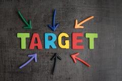Дело направляя план цели для концепции успеха, multi красочного Стоковые Фотографии RF