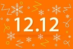 12 дело продажи сюрприза зимы 12 кампаний бесплатная иллюстрация