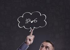 Дело, технология, интернет и маркетинг Молодой бизнесмен Стоковое Фото