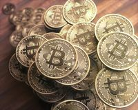 Дело bitcoin Cryptocurrency Стоковые Фото