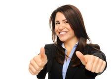 дело thumbs вверх по женщине стоковое изображение rf