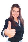 дело thumbs вверх по женщине Стоковые Фотографии RF
