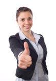 дело thumbs вверх по женщине Стоковое Фото