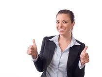 дело thumbs вверх по женщине Стоковая Фотография RF