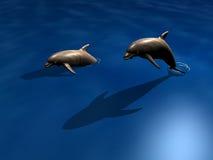 дельфины пар Стоковое фото RF