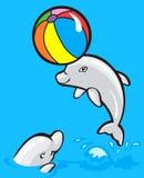 дельфины 2 младенца Стоковое Изображение
