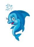 дельфин веселый иллюстрация вектора