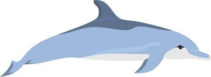 Дельфин на море иллюстрация вектора