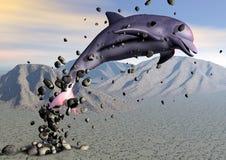 дельфин пустыни иллюстрация вектора