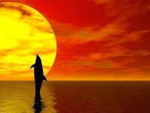 дельфин танцы иллюстрация вектора