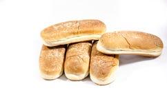 5 делюкс больших плюшек хот-дога Стоковая Фотография