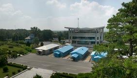 Демилитаризованная пограничная зона между северной и южной Кореей Стоковая Фотография