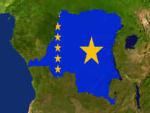 демократическая республика Конго Стоковая Фотография RF