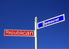 Демократ против знака GOP Стоковая Фотография RF