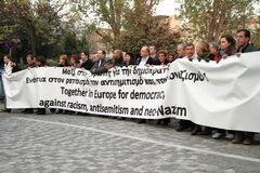Демонстрация в Афиныы стоковое фото rf