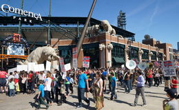 Демонстрация в Детройте Стоковые Изображения