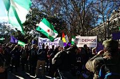 Демонстрация в имени PODEMOS 6 Стоковые Изображения