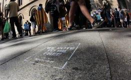 Демонстрация для независимости в Барселоне Стоковое Изображение RF