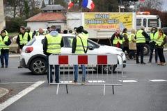 Демонстрация желтого жилета стоковое изображение