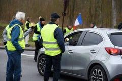 Демонстрация желтого жилета стоковые фото