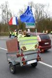 Демонстрация желтого жилета стоковая фотография