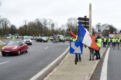 Демонстрация желтого жилета стоковые фотографии rf