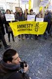 демонстрация Италия мирный rome Стоковое фото RF