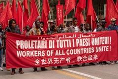 Демонстрация 1-ого мая в Савоне Италии Стоковое Изображение RF
