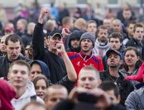 Демонстрация партии работника в Остраве Стоковые Фото