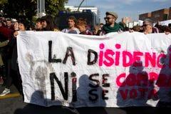 Демонстрация против крайней правой группировки 77 стоковое фото