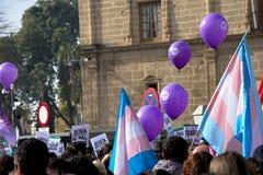 Демонстрация против крайней правой группировки 78 стоковая фотография
