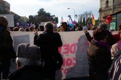 Демонстрация против крайней правой группировки 80 стоковое изображение
