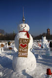 Демонстрация снеговиков Стоковые Изображения RF