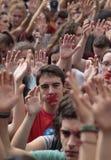 Демонстрация студентов Барселоны для вертикали независимости Стоковая Фотография RF