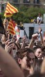 Демонстрация студентов Барселоны для вертикали независимости Стоковое Изображение RF