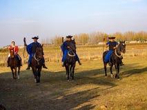 Демонстрация школы верховой езды, Hortobagy, Венгрии стоковое фото rf
