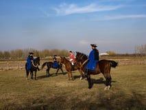 демонстрация школы верховой езды, Hortobagy, Венгрия стоковое фото rf