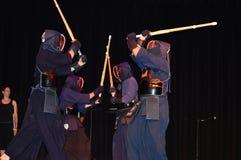 Демонстрация шпаг Kendo японская Стоковая Фотография RF
