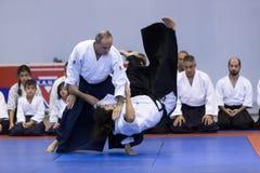 Демонстрация японских традиционных боевых искусств Стоковое фото RF