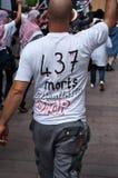 Демонстрация для мира между Израилем и Палестиной, против израильского взрыва в Газа стоковые изображения