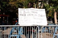 Демонстрация для стопа геноцид стоковые изображения