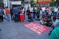 Демонстрация для того чтобы опротестовать заключать в тюрьму активистов студенческого движения Стоковые Изображения RF