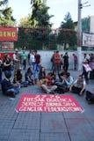 Демонстрация для того чтобы опротестовать заключать в тюрьму активистов студенческого движения Стоковое Фото