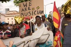 Демонстрация Antiracist к милану Стоковые Изображения