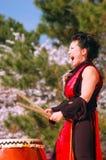 Демонстрация Taiko барабаня Стоковая Фотография