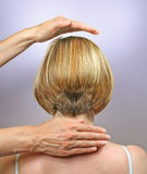 Демонстрировать положения руки для направляясь излечивать Стоковая Фотография RF